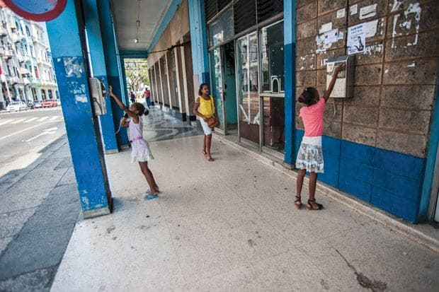 Cuba-Estados Unidos, Calles de La Habana