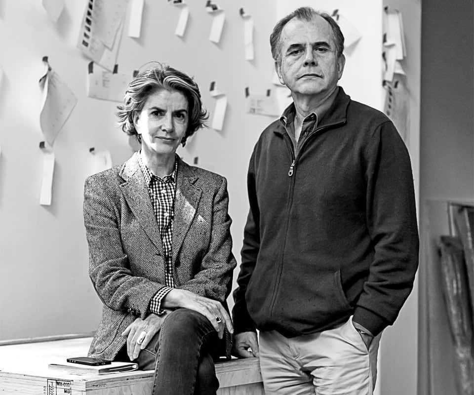 Patricia Ortiz Monasterio y Jaime Riestra, fundadores de Galería OMR.