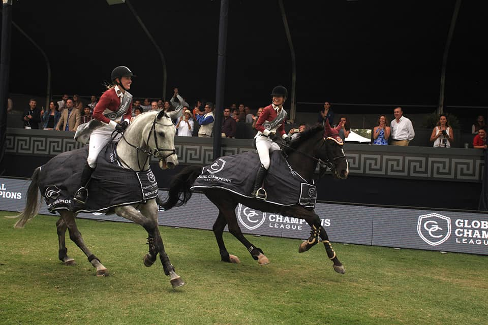 Edwina Tops-Alexander y Janne Friederike Meyer, ganadoras de la Global Champions League.
