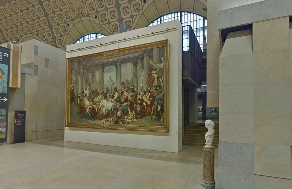 Museo de Orsay, en París, visto a través de su recorrido virtual.
