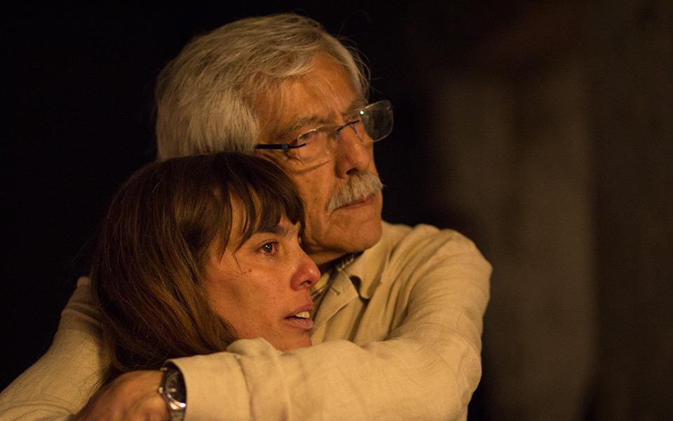 """""""…te mataré los pedacitos…"""" / Micaela y Alberto Gramajo en """"Te mataré, derrota""""."""