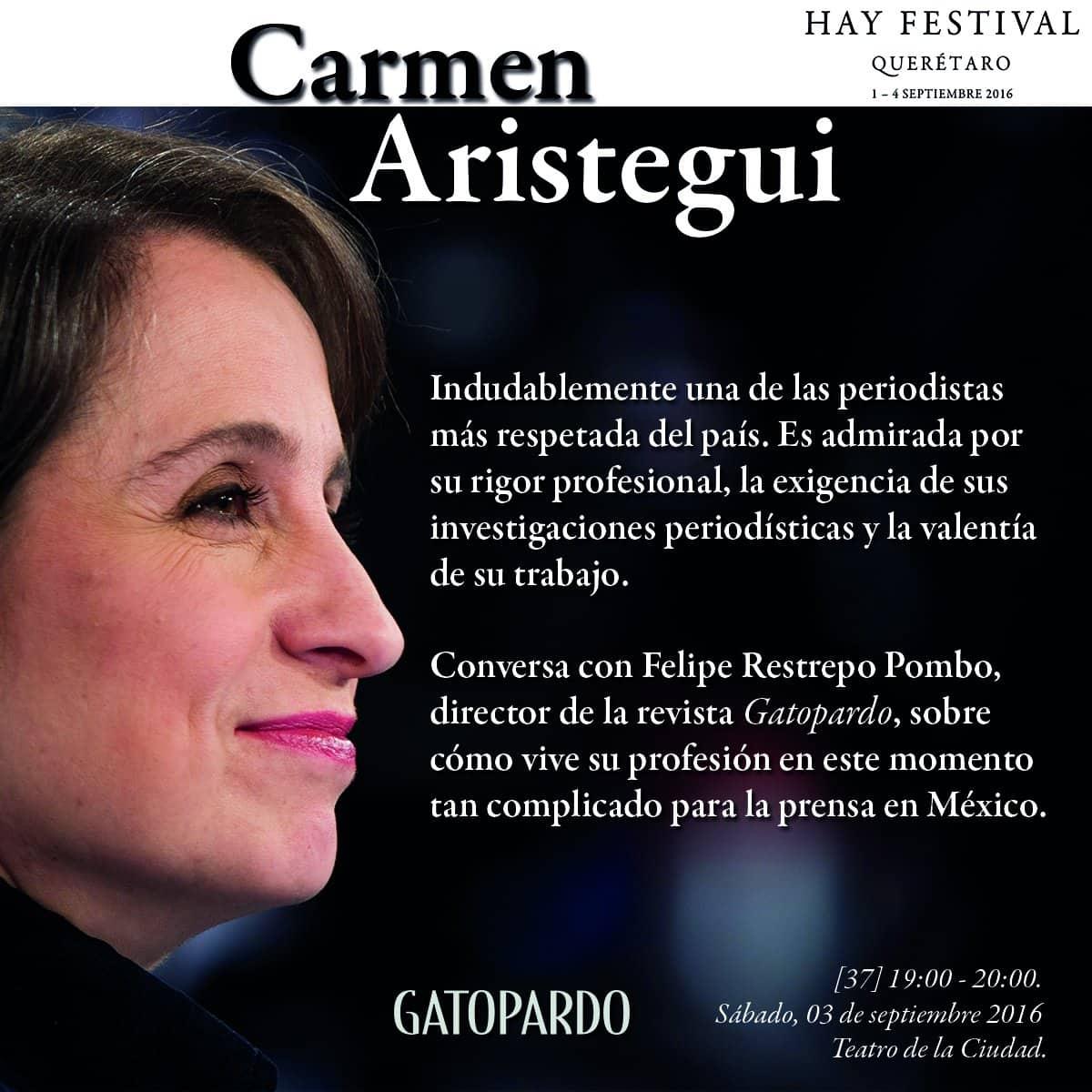 Carmen Aristegui Hay Festival
