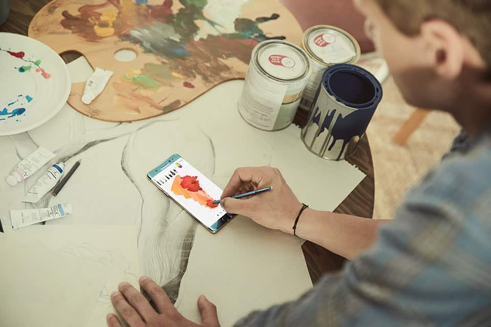 Galaxy Note 7 interiores