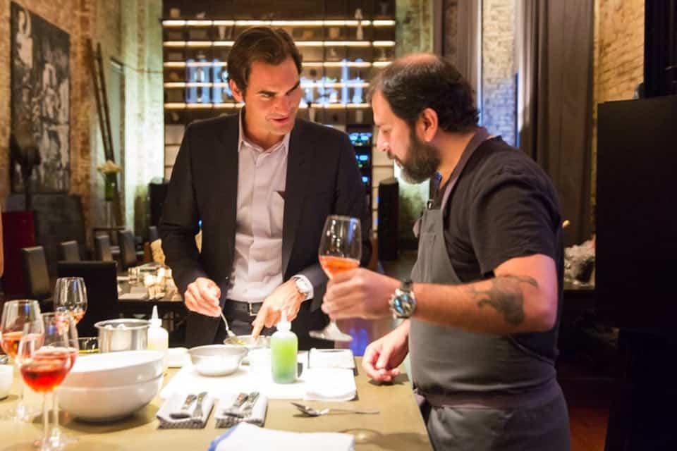 Moët & Chandon con Olvera y Federer
