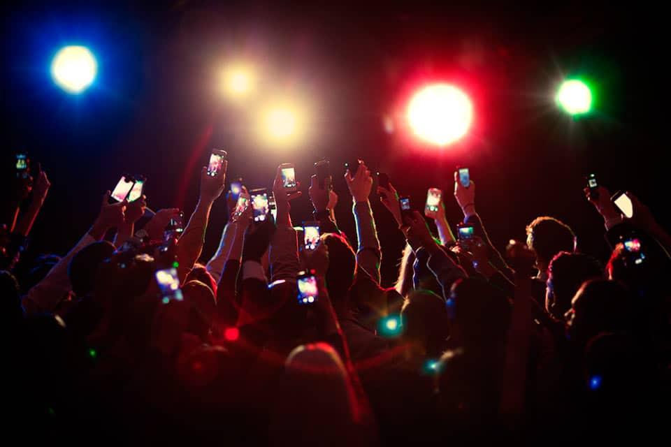 Smartphone en conciertos