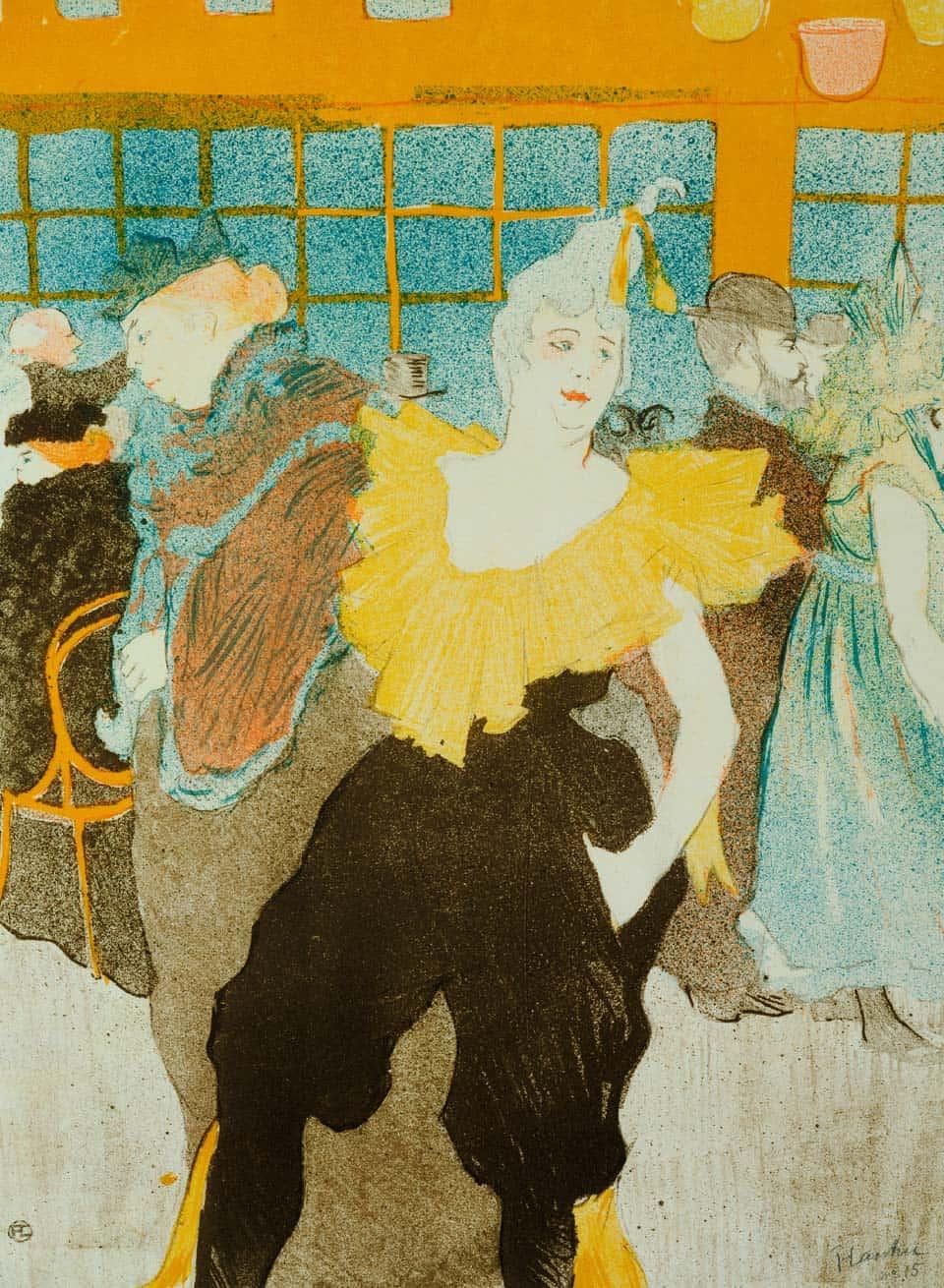 La payasa en el Moulin Rouge