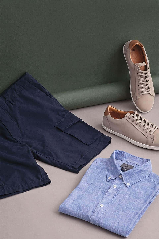 Shorts, camisa y zapatos de verano H&M