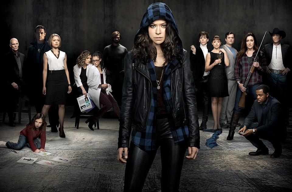 """Tatiana Maslany y el elenco de """"Orphan Black""""."""
