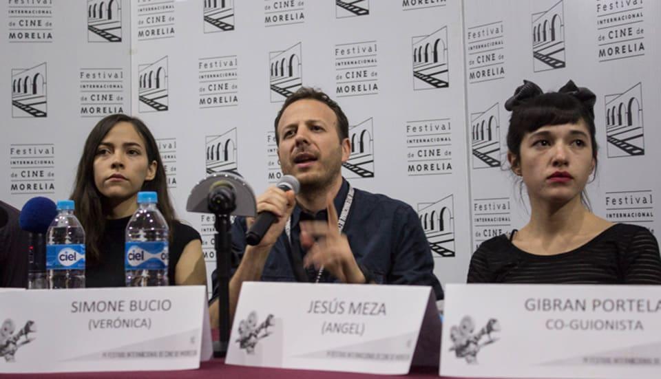 Ruth Ramos, Amat Escalante y Simone Bucio
