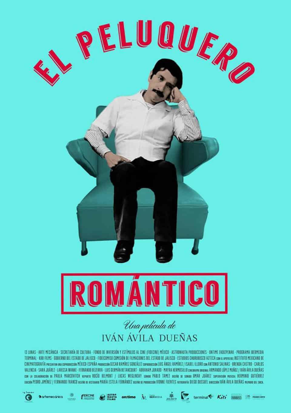 """Poster """"El peluquero romántico""""."""
