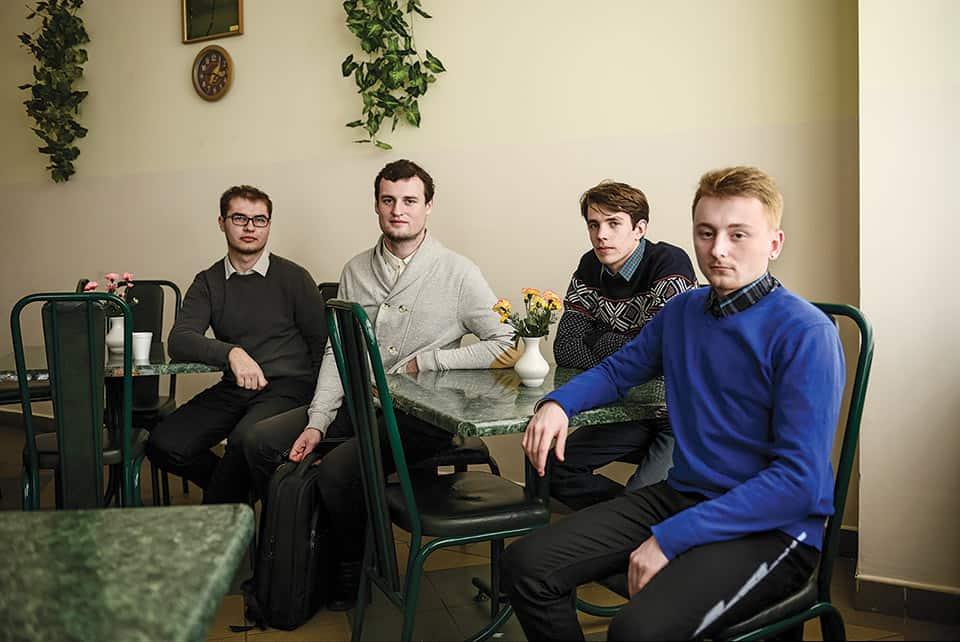 Activistas jóvenes en Bielorrusia