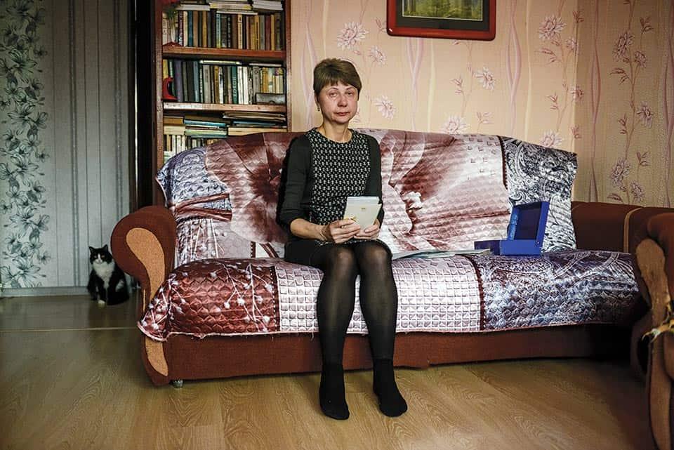 Lyubov Kovaleva es madre del joven ejecutado por el gobierno