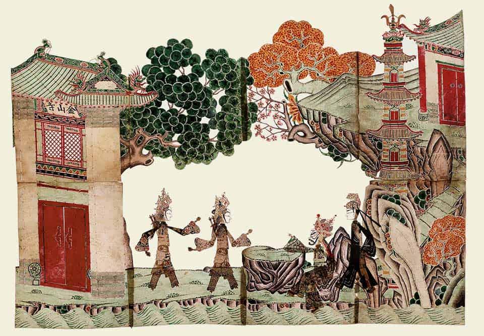 """Anónimo, """"Inundación en el templo de Jinshan"""""""