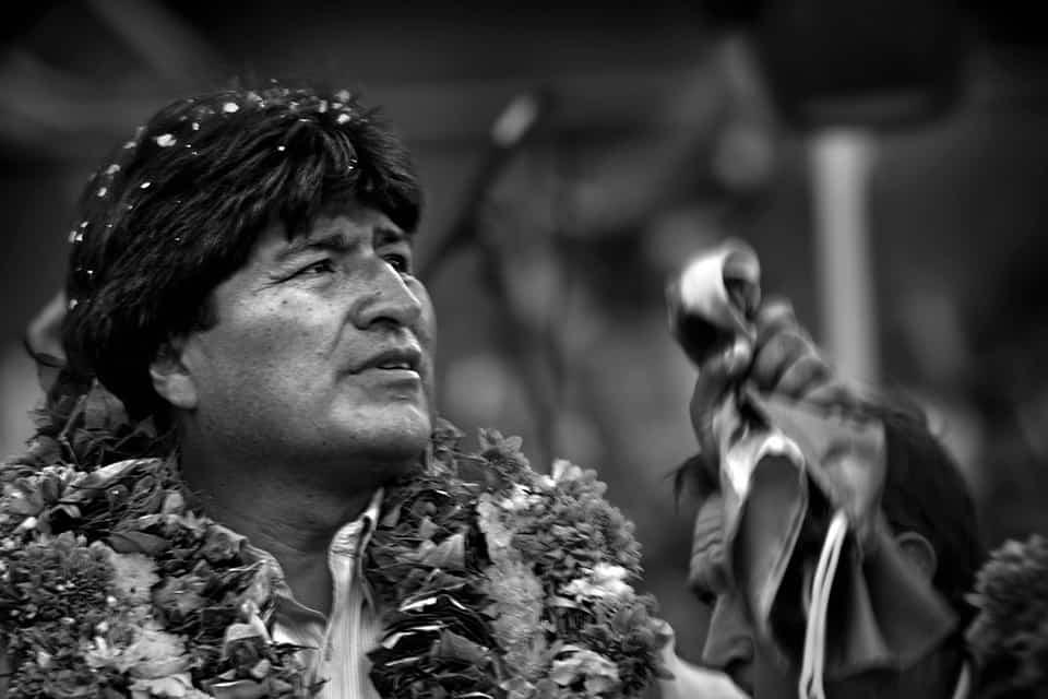 Evo Morales b/n