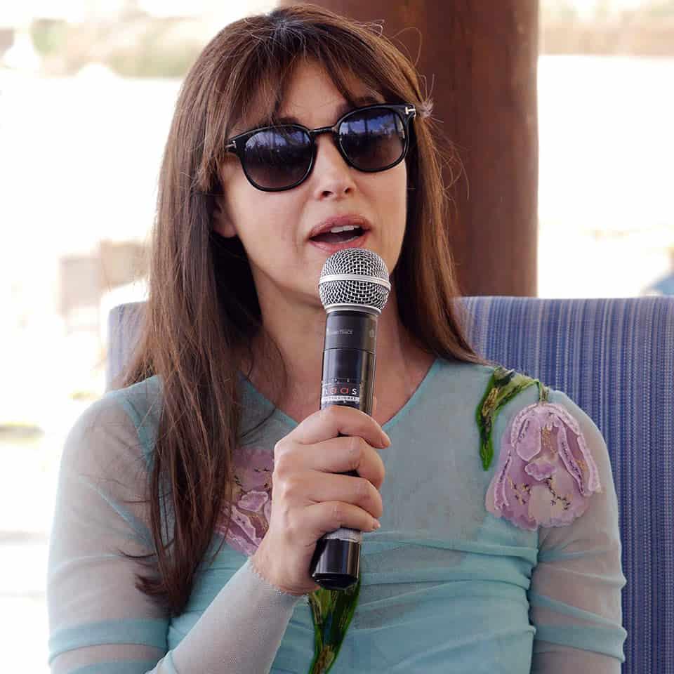 Monica Bellucci en el Festival Internacional de Cine de Los Cabos.