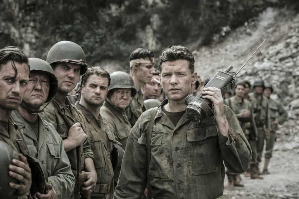 "Sam Worthington en ""Hacksaw Ridge""."
