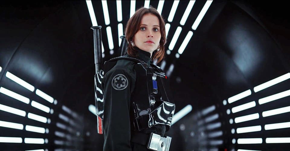 "Felicity Jones es Jyn Erso en ""Rogue One""."