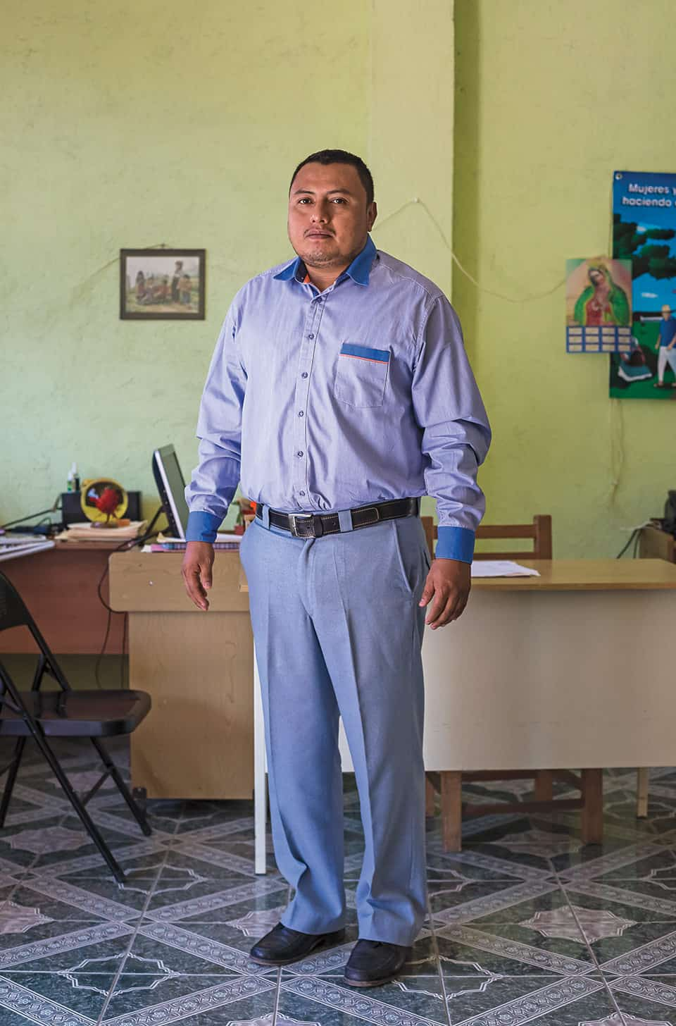 Rogelio Teliz, abogado del Centro de Derechos Humanos de la Montaña Tlachinollan.