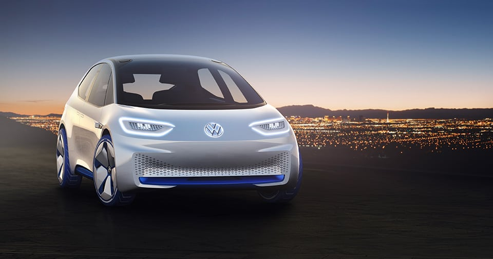 Volkswagen en el CES 2017.