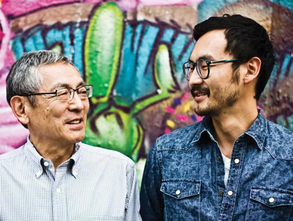 Roberto Shimizu y su hijo, Roberto Jr.