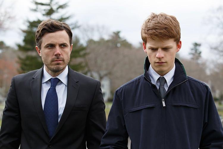 "Casey Affleck y Lucas Hedges en ""Manchester by the Sea""."