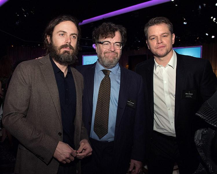 Casey Affleck, Kenneth Lonergan y Matt Damon.