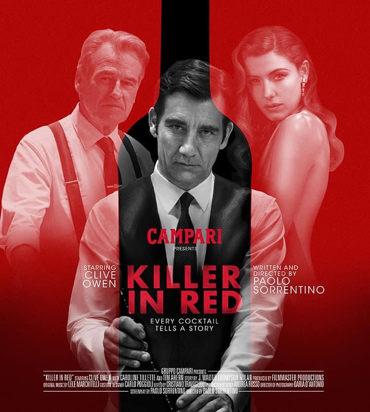 "Poster de ""Killer In Red""."
