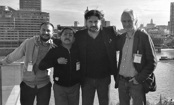 Emiliano Ruiz Parra, Sergio González Rodríguez, Diego Enrique Osorno y Christopher MacLehose.