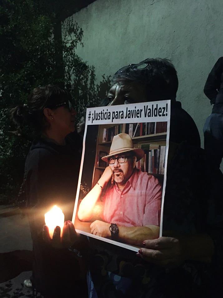 Protesta por el asesinato de Javier Valdez, int1