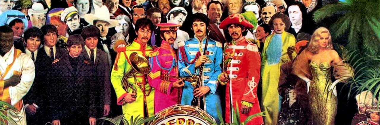 Sgt. Pepper's Lonely Hearts Club Band, cumple 50 años, portada