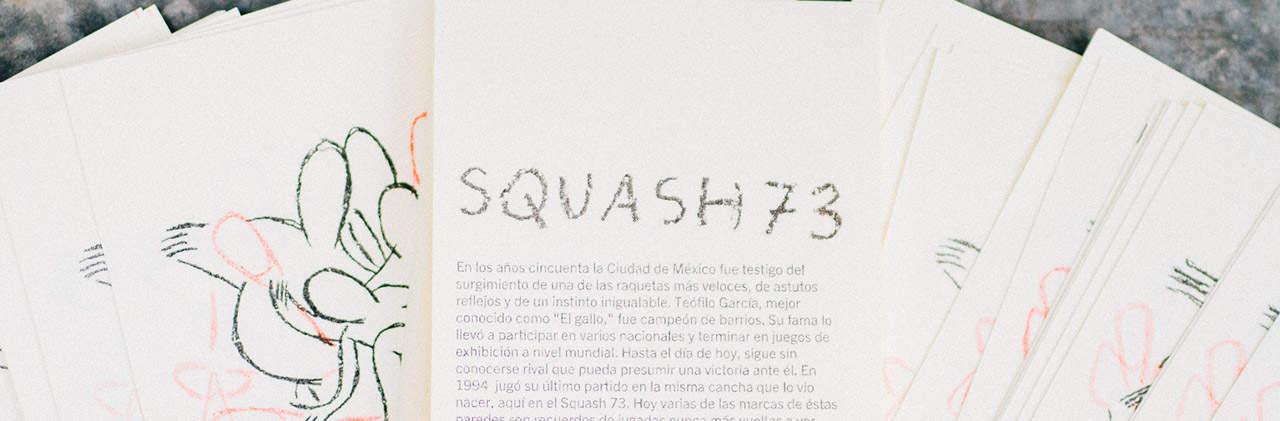 Squash 73 San Rafael teatro arte comida, portada