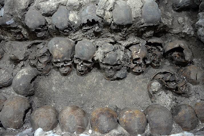 tzompantli centro histórico ciudad de méxico excavaciones guatemala, inah 1