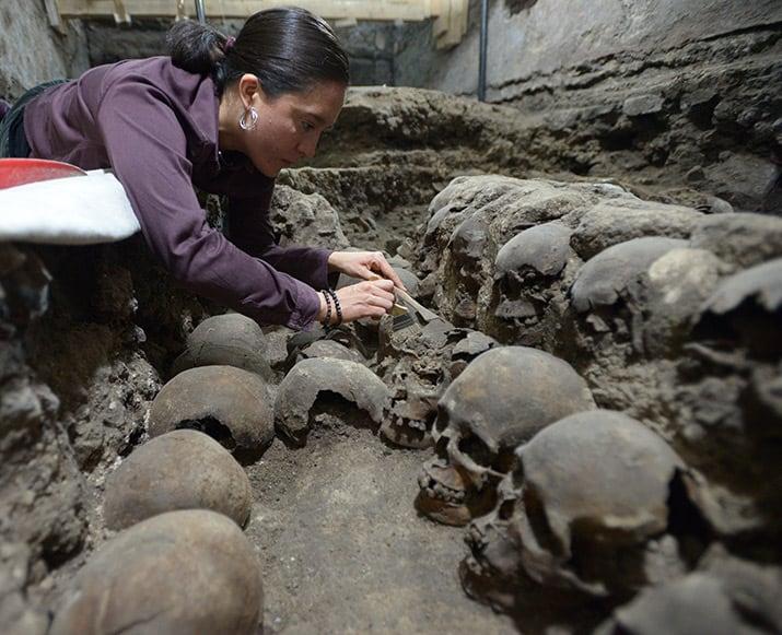 tzompantli centro histórico ciudad de méxico excavaciones guatemala, inah 5