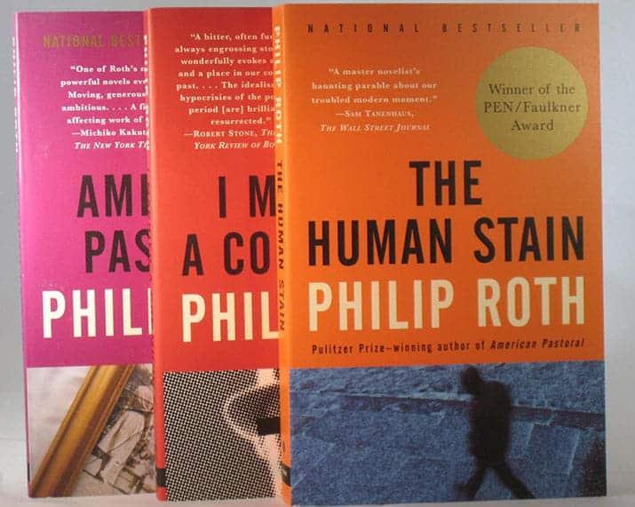libros philip roth, trilogia americana