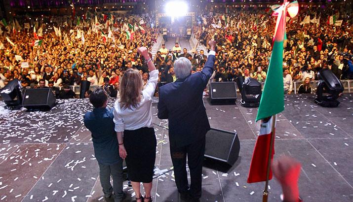 Andrés Manuel López Obrador primer discurso, interior 3