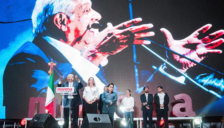 Andrés Manuel López Obrador primer discurso, interior 2
