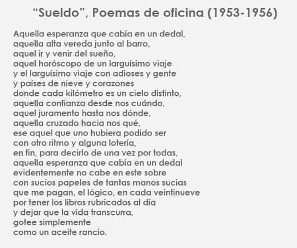 Mario Benedetti, poemas de oficina