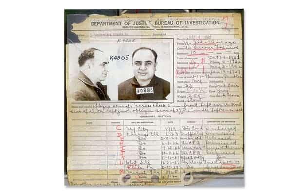 Al Capone, antecedentes penales