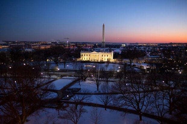 Cierre de gobierno Estados Unidos, Casa Blanca