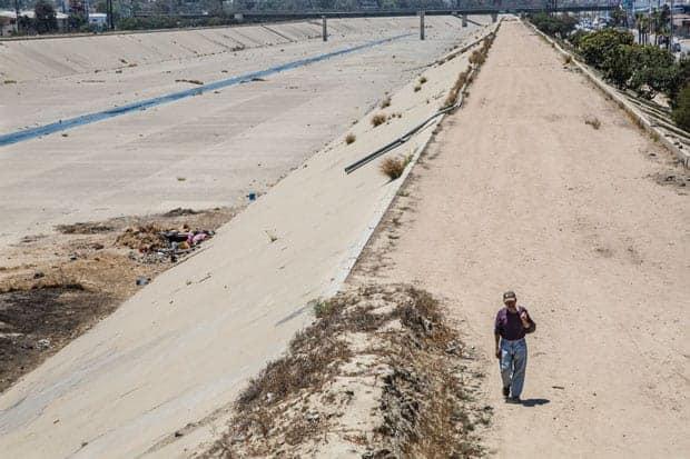 El Bordo lugar en donde vivían migrantes violencia en tijuana