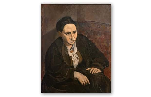retrato Gertrude stein pablo picasso