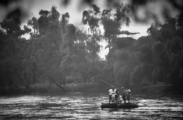 migrantes centroamericanos en el viaje