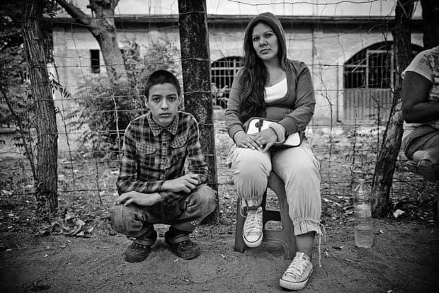 migrantes centroamericanos en refugios