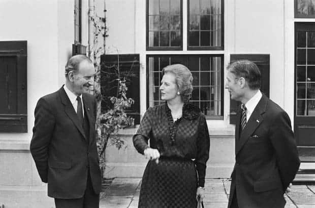 Margaret Thatcher y Chris van der Klaauw
