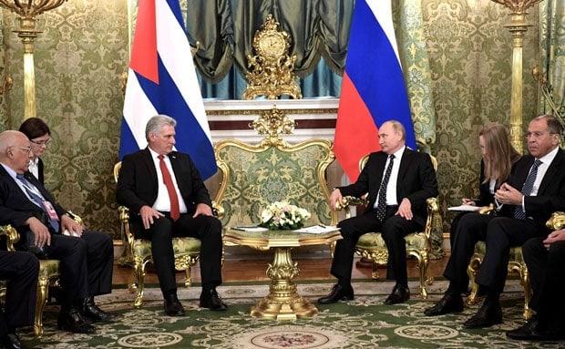 Miguel Diaz Canel y Vladimir Putin