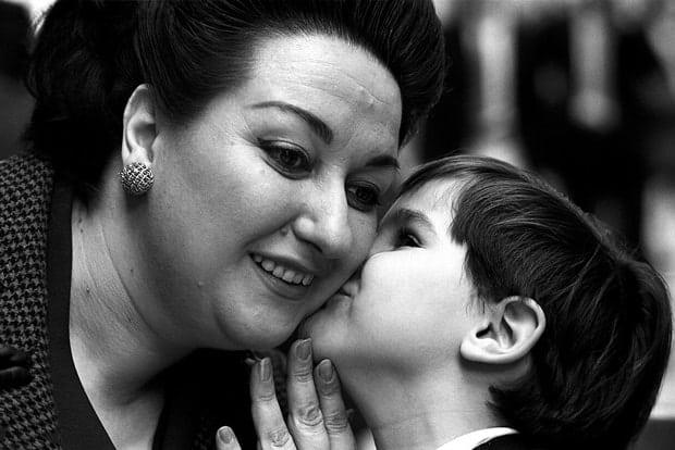 Montserrat Caballé y su hijo