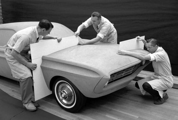 Q1 Special Falcon 1962, Ford Styling Center modelage en archivo / Cortesía Ford Mustang
