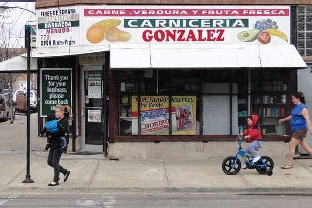Carnicería en el vecindario de Pilsen en Chicago, Illinois.