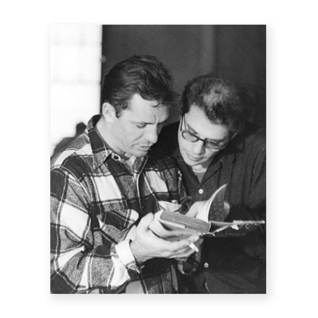Jack Kerouac y Allen Ginsberg