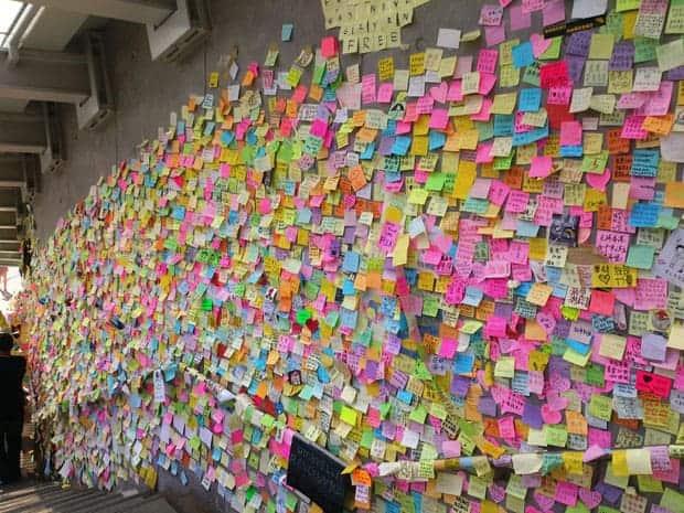 Muro John Lennon en Hong Kong